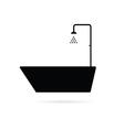 bathtub black vector image
