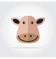 Cow head icon vector image