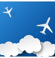 Paper airplanes and clouds vector image