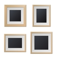 Realistic Wood Picture Frames with Blank Center vector image