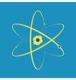 Atom cut-out vector image
