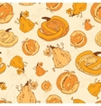 Autumn Pumpkins Harvest Seamless Pattern vector image vector image