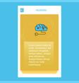 brain circuit mobile vertical banner design design vector image vector image
