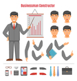 Businessman constructor set vector image