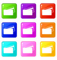 card discounts black friday icons set 9 color vector image vector image