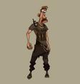 cartoon man in clothes post apocalypse