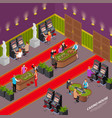 casino house isometric interior vector image vector image