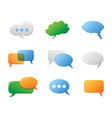 Chat Bubbles icon set vector image vector image