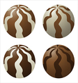 chocolate dragee vector image vector image