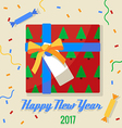 Christmas gift 2017 vector image vector image