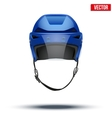 Classic blue Ice Hockey Helmet with glass visor vector image vector image