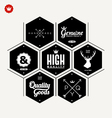 Collection of Premium quality label vector image vector image