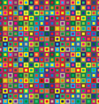 colors squares seamless abstract pattern vector image