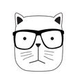 Cute Handdrawn Cat vector image vector image