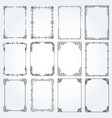 decorative rectangle frames and borders set 4 vector image vector image