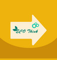 eco postereco banner for world environment day vector image vector image