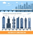 Elements for construction city in vector image vector image
