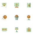 Flat simple icons for basketball vector image