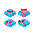 flat style isometric wrapped gift or gift card vector image vector image