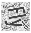 Fly Fishing Clubs Word Cloud Concept vector image vector image