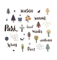 Forest trees with lettering vector image vector image
