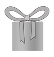 gift box with bow icon image vector image vector image