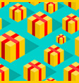 gift isometric style pattern festive ornament box vector image