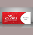 gift voucher template greeting card for valentine vector image vector image
