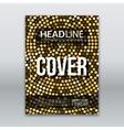 golden flyer template Golden mosaic vector image
