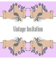 invitation and ribbon vector image vector image