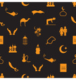 islamic religion simple icons seamless pattern vector image vector image