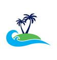 island concept archipelago logo icon vector image