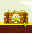 lemon fruit always fresh in wood basket vector image