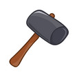 mallet isolated vector image