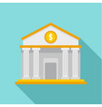 money bank icon flat style vector image