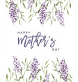 mothers day lavender watercolor flower card vector image vector image