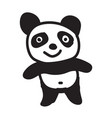 panda cartoon icon vector image