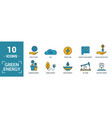 power and energy icon set include creative vector image vector image