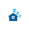 property sleep logo icon design vector image vector image