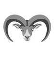 ram face front view vector image vector image