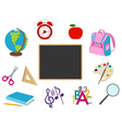 School cartoon objects vector image