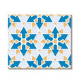 seamless pattern with islamic geometric ornament vector image