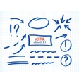 Set of correction and highlight elements part 1 vector image vector image