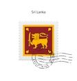 Sri Lanka Flag Postage Stamp vector image vector image