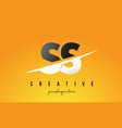 ss s s letter modern logo design with yellow vector image vector image