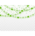 st patricks day horizontal background vector image vector image