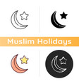 star and crescent icon vector image
