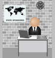 state sponsored hacking vector image vector image