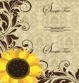 Sunflower Wedding Invitation vector image vector image