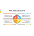 swot-analysis template or strategic planning vector image vector image